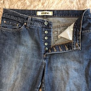 Mavi Jeans 136 Molly Flare Low Rise Button Fly